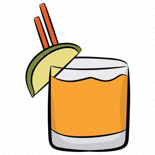 alcoholic drink, beverage, fruit juice, soda water, tropical drink icon
