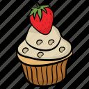 bakery food, cupcake, dessert, muffin, tea snack