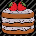 bakery item, birthday cake, dessert, fruit cake, sweet icon