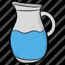 container, jug, kitchen utensil, pitcher, water jug