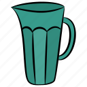 container, jug, kitchen utensil, pitcher, water jug icon