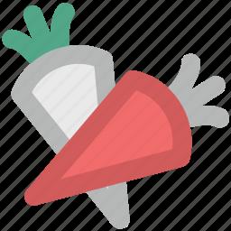carrots, food, healthy food, parsnip, root vegetable, vegetable icon