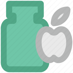 apple jam, apple preserved, container, jambox, jar, marmalade icon