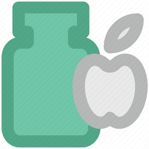 apple jam, apple preserved, container, jambox, jar, marmalade icon