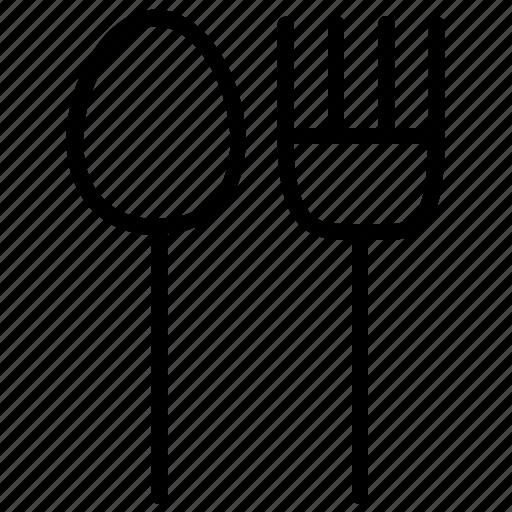 cutlery, eating, fork, kitchen, restaurant, spoon, utensils icon