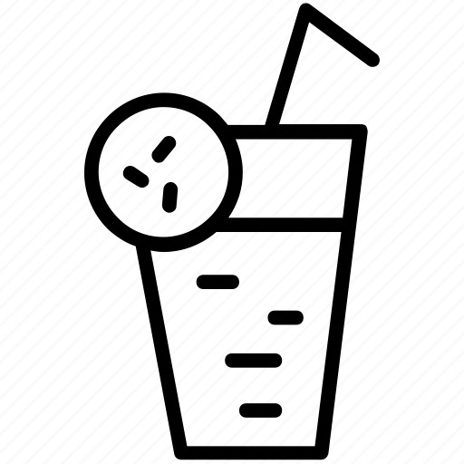 beverage, drink, glass, juice, lime, straw icon