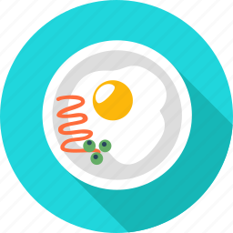 breakfast, fast, food, fried egg, meal, restaurant icon