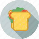 breakfast, fast, food, health, healthy, restaurant, sandwich icon