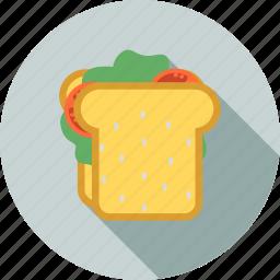 breakfast, fast, food, health, healthy, restaurant, sandwich icon
