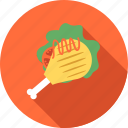 cooking, food, fried chicken, meal, restaurant icon