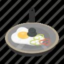 breakfast, egg, frying, yolk, omelette