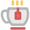 coffee, hot coffee, hot coffee cup, hot tea, tea, tea cup, tea pack icon