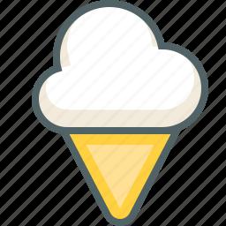cold, cream, dessert, food, ice, icecream icon