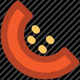 cantaloupe melon, lobule, melon, melon slice, segment icon
