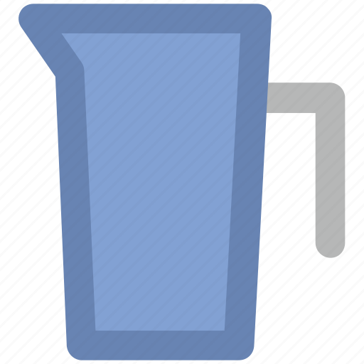 beaker, ewer, jug, jug of water, measurement jug, pitcher icon