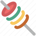 barbecue, bbq, food, shashlik, skewer, skewer kebab icon