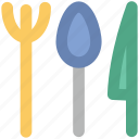 cutlery, flatware, fork, fork and spoon, restaurant, spoon