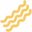bacon, cooked bacon, noodles, pasta, spaghetti, vermicelli icon