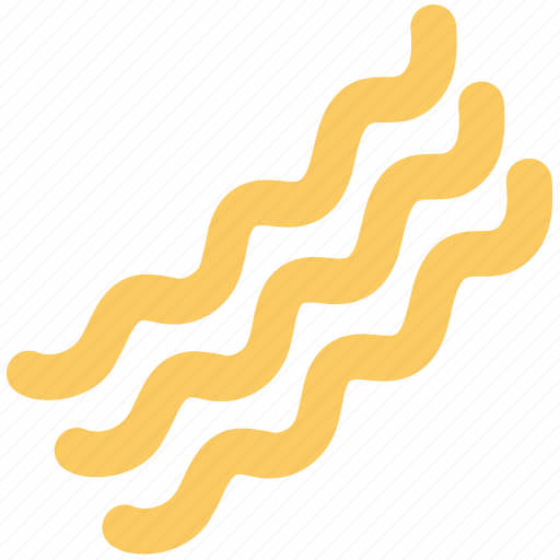 Bacon, cooked bacon, noodles, pasta, spaghetti, vermicelli icon - Download on Iconfinder