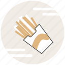 fast food, food, french fries icon