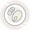 food, salmon, steak icon