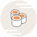 food, japanese, maki, salmon icon