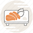 food, japanese, salmon, sashimi icon