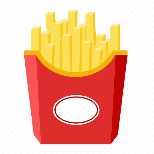 fast food, food, french, fries, potato icon
