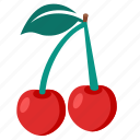 berry, cherries, cherry, food icon