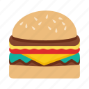 fast food, food, hamburger icon