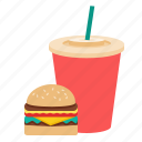aeration, fast food, food, hamburger icon