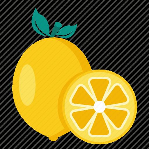 citrus, food, fruit, lemon icon