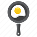 food, omelette, egg, pan
