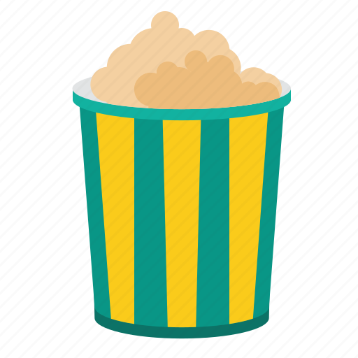 corn, maize, popcorn, snack icon