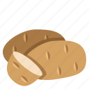 food, potato, vegetable icon