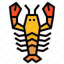 crab, gourmet, lobster icon