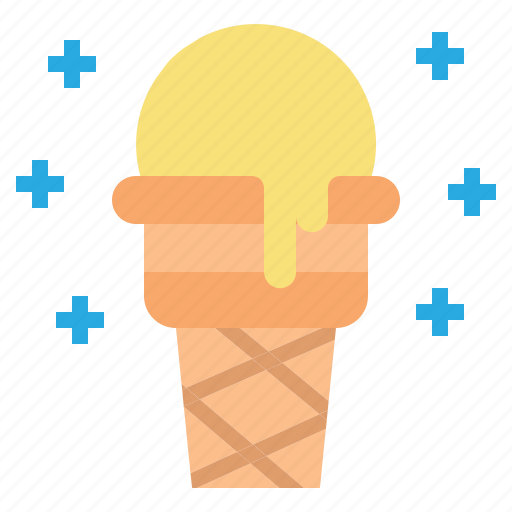 cone, cream, dessert, food, ice icon