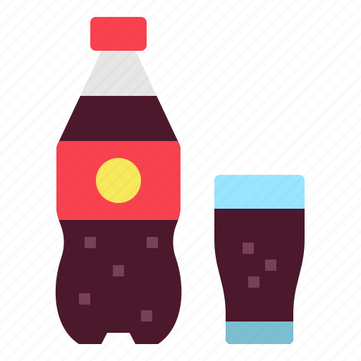 bottle, cola, drink, glass, soda icon