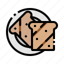 bakery, bread, breakfast, food, toast icon