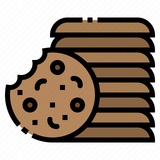 chip, chocolate, cookies, food, sweet icon