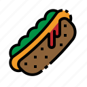 dog, fast, food, hot, sausage icon