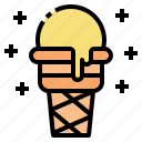 cone, cream, dessert, food, ice icon
