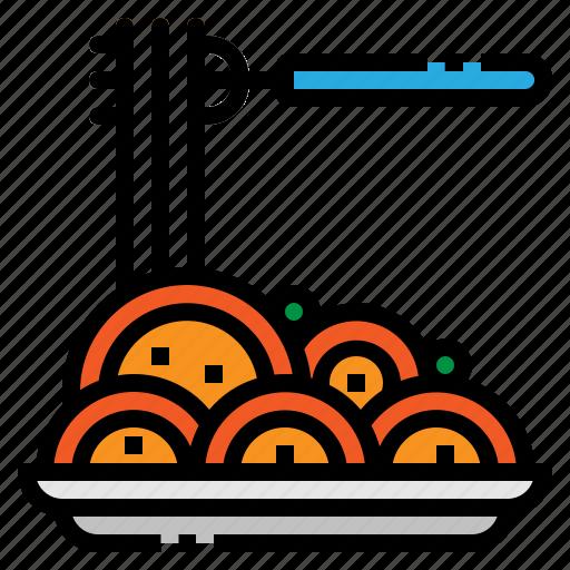 food, italian, pasta, plate, spaguetti icon