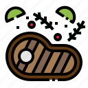 beef, food, grilled, meat, steak icon