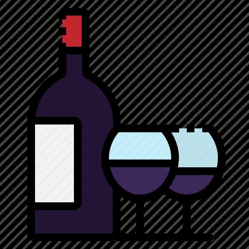 alchol, beverage, drink, glass, wine icon