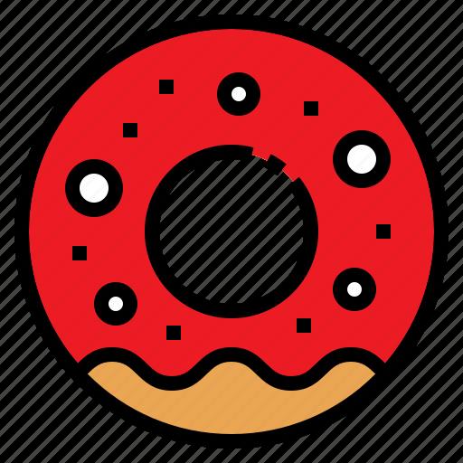 dessert, donut, food, snack, sweet icon