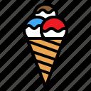cone, cream, food, ice, sweet
