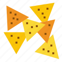 nacho, mexican, chip icon