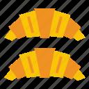 bread, croissant icon