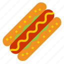 hotdog, hot dog icon
